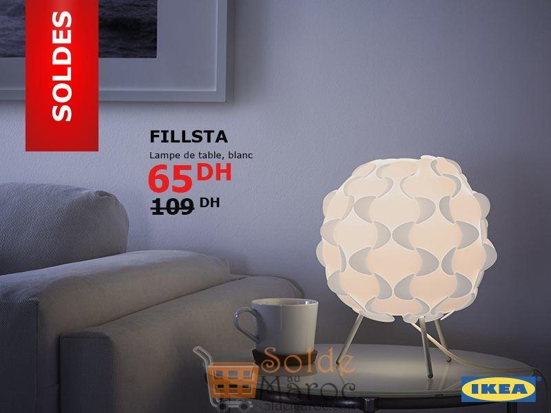Soldes Ikea Maroc Lampe de table FILLSTA 65Dhs au lieu de 109Dhs