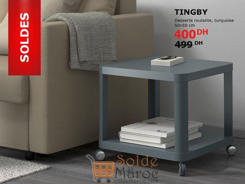Soldes Ikea Maroc Desserte roulante TINGBY 400Dhs au lieu de 499Dhs
