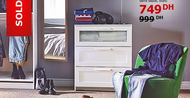 Soldes Ikea Maroc Commode BRIMNES 3 Tiroirs 749Dhs au lieu de 999Dhs