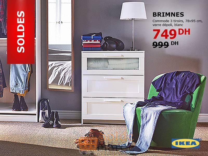 Soldes Ikea Maroc Commode Brimnes 3 Tiroirs 749dhs