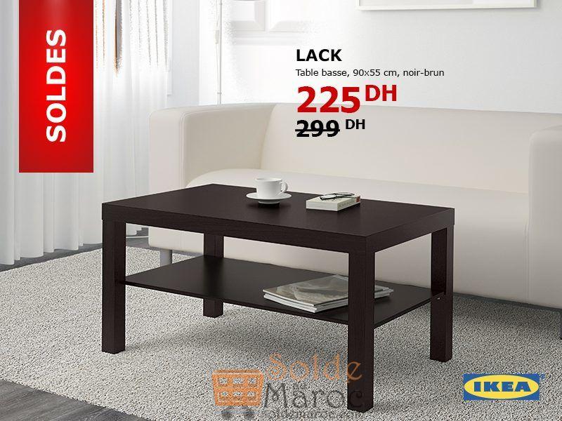 soldes ikea maroc table basse lack 225dhs promotion du maroc. Black Bedroom Furniture Sets. Home Design Ideas