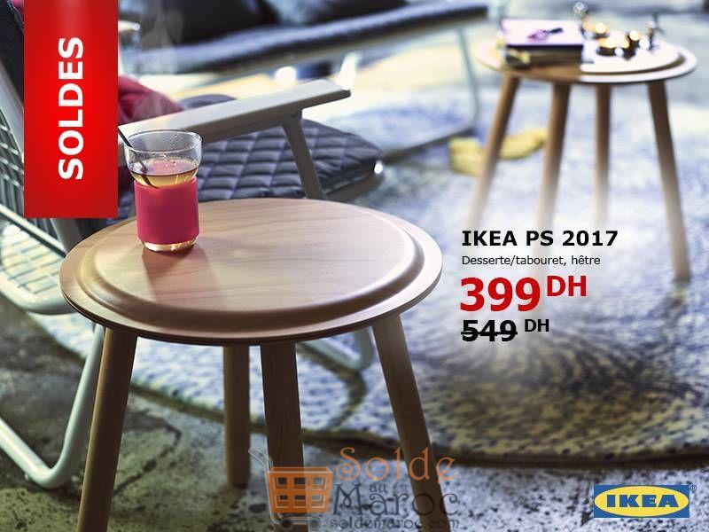 Soldes Ikea Maroc Dessert Tabouret hêtre 399Dhs au lieu de 549Dhs
