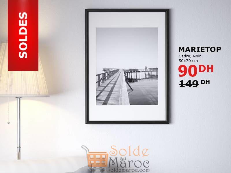 Soldes Ikea Maroc Cadre Noir MARIETOP 90Dhs au lieu de 149Dhs