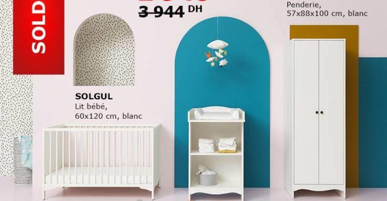Soldes Ikea Maroc Combinaison de Meubles Bébés SOLGUL 2948Dhs au lieu de 3944Dhs