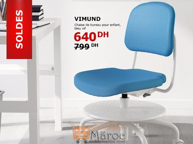solde ikea maroc chaise de bureau vimund 640dhs. Black Bedroom Furniture Sets. Home Design Ideas