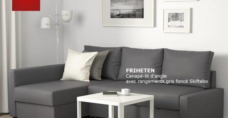 Soldes Ikea Maroc Set Canapé-lit d'angle FRIHETEN et la desserte TINGBY 4998Dhs au lieu de 6494Dhs