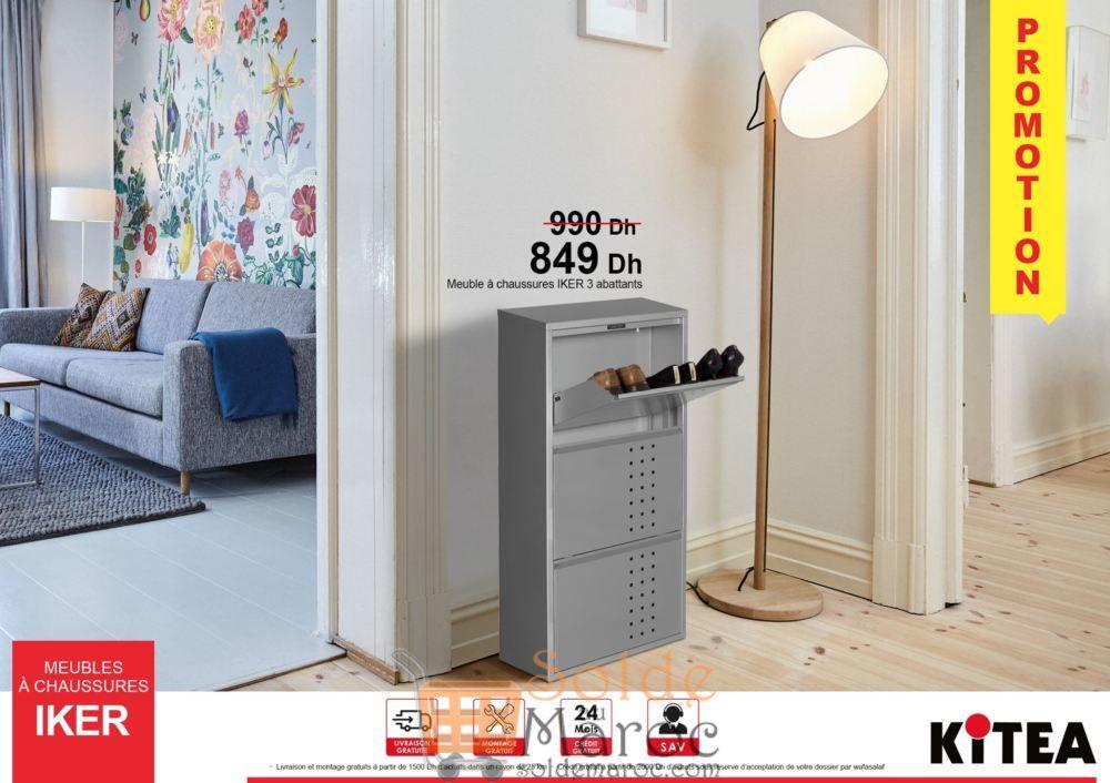 Promo Kitea Meubles à chaussures IKER 849Dhs au lieu de 990Dhs