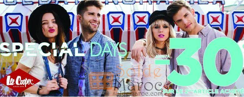 Promo Lee Cooper Maroc SPECIAL DAY -30% sur le 2ème articles