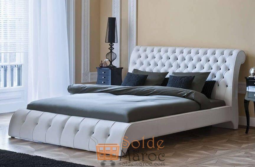 Promo Azura Home Lit EURIDICE 160cm 4985Dhs au lieu de 6233Dhs