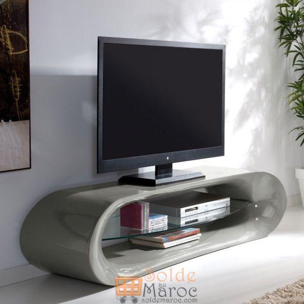 Promo Odesign Meuble TV en verre Longueur 160cm 6650Dhs au lieu de  8250Dhs