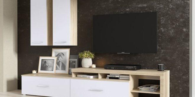 Promo azura home meuble tv nel 2690dhs les soldes et for Laquer un meuble en mdf