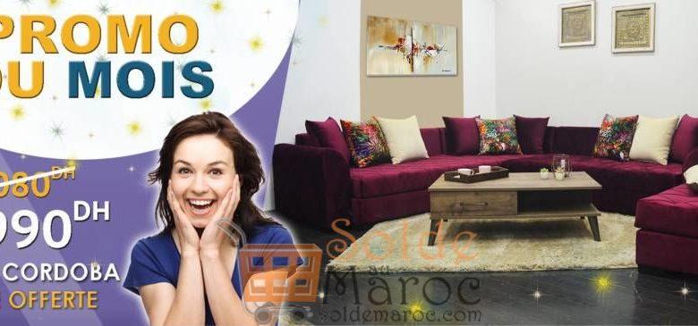 Promo du mois Mobilia Salon Cordoba + Table 10990Dhs au lieu de 12080Dhs