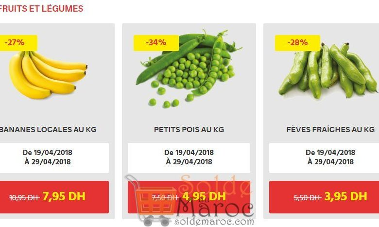 Offre du Momment chez Leader Prices Maroc Fruits et légumes