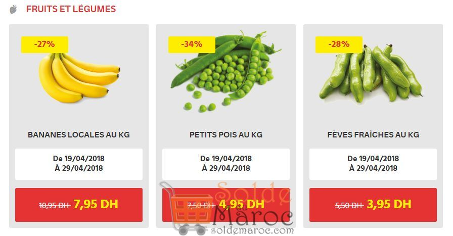 Offre du Moment chez Leader Prices Maroc Fruits et légumes