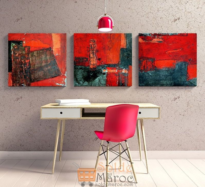 Promo Massinart Tableau décoratif Old town abstract painting Breaking Bad imprimé en HD 224Dhs