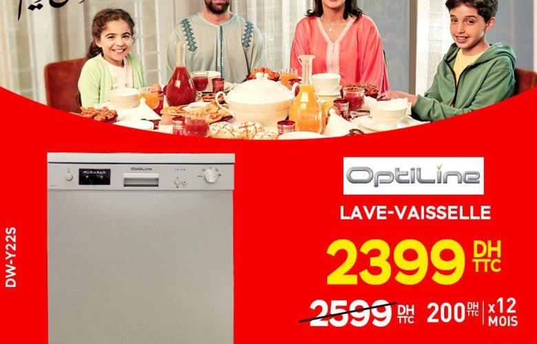 Promo Electroplanet Lave-vaisselle Optiline 2399Dhs au lieu de 2599Dhs