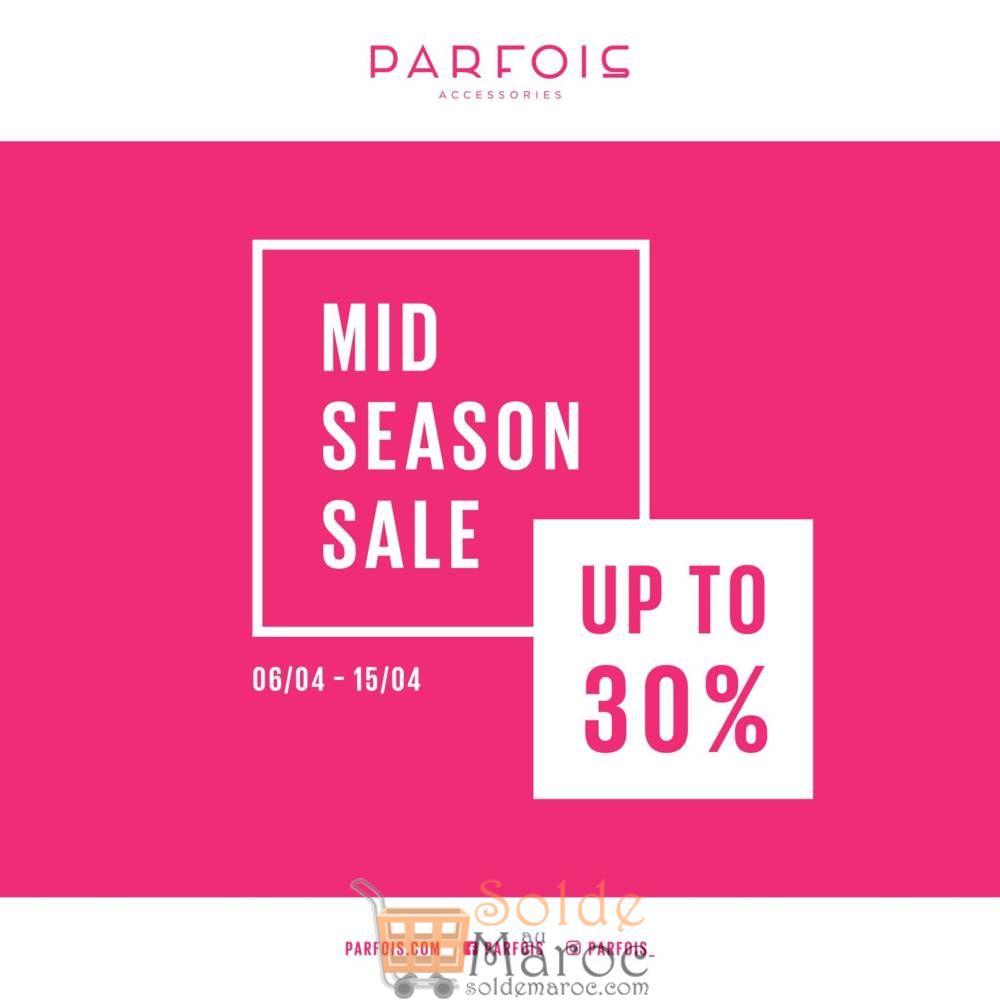 Soldes Parfois Maroc jusqu'à -30% Jusqu'au 15 Avril 2018