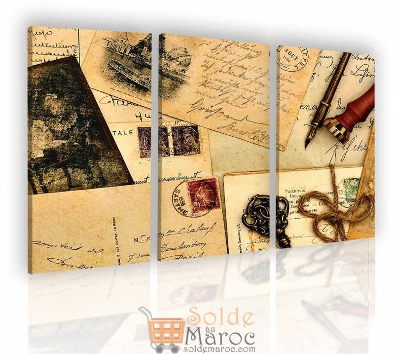 Promo Massinart Tableau Post Cards imprimé en HD 332Dhs au lieu de 369Dhs
