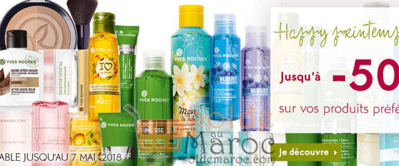 Promo Yves Rocher Maroc Happy Printemps Jusqu'a -50% su vos produits préférés