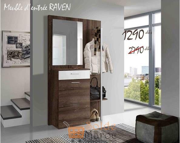 Promo Azura Home Meuble d'entrée RAVEN 1290Dhs au lieu de 2790Dhs