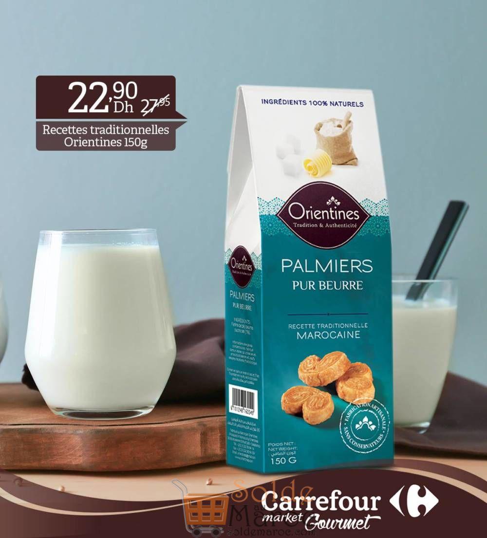 Promo Carrefour Gourmet Palmiers Pur Beurre 22.90Dhs au lieu de 27.95Dhs