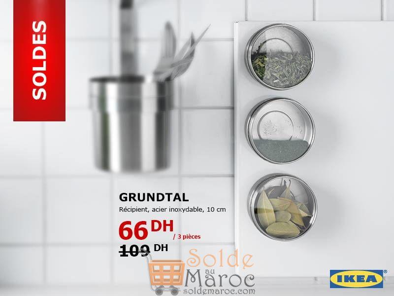 Soldes Ikea Maroc Récipient Acier inoxydable 3 pièces 66Dhs au lieu de 109Dhs
