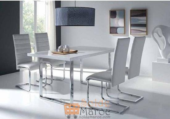 Promo Odesign Table à manger + 4 chaises DIAMOND 6600Dhs au lieu de 8600Dhs