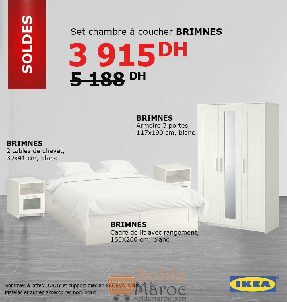 soldes ikea maroc set chambre coucher brimnes 3915dhs. Black Bedroom Furniture Sets. Home Design Ideas