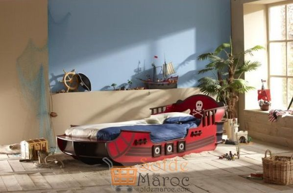 Photo of Promo Odesign Lit Enfant SHARK en forme de bateau de pirate 4300Dhs