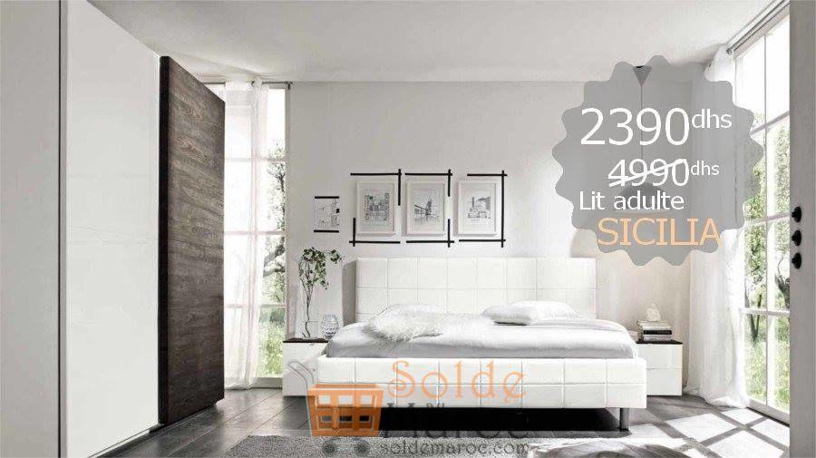 Promo Azura Home Lit SICILIA 160cm 2390Dhs au lieu de 4490Dhs