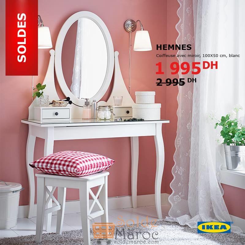 Soldes Ikea Maroc Coiffeuse HEMNES avec Miroir 1995Dhs au lieu de 2995Dhs