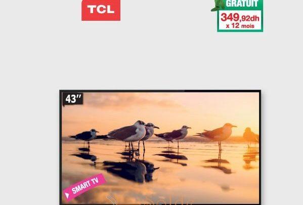 Promo Aswak Assalam Smart TV TCL 43″ S4900 LED 4199Dhs au lieu de 4299Dhs