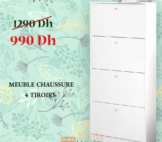 Promo Yatout Home Meuble Chaussure 4 Tiroirs 990Dhs au lieu de 1290Dhs