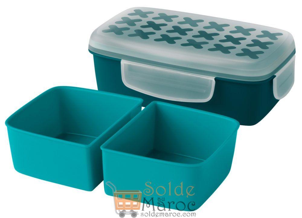 Promo Ikea Maroc Boîte Repas turquoise foncé FESTMÅLTID 24Dhs au lieu de 39Dhs