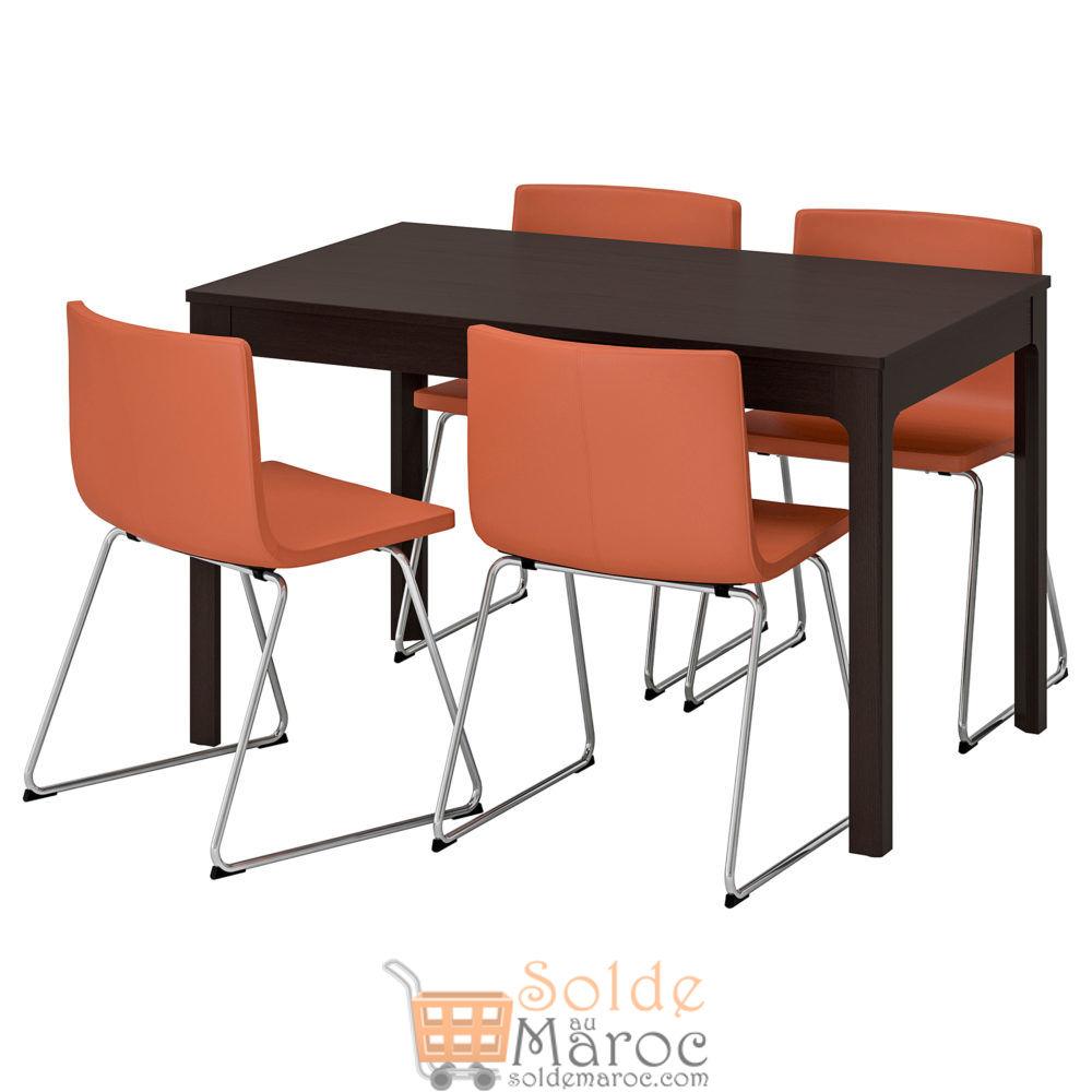 Promo Ikea Maroc Table et 4 chaises EKEDALEN / BERNHARD 6911Dhs au lieu de 10475Dhs