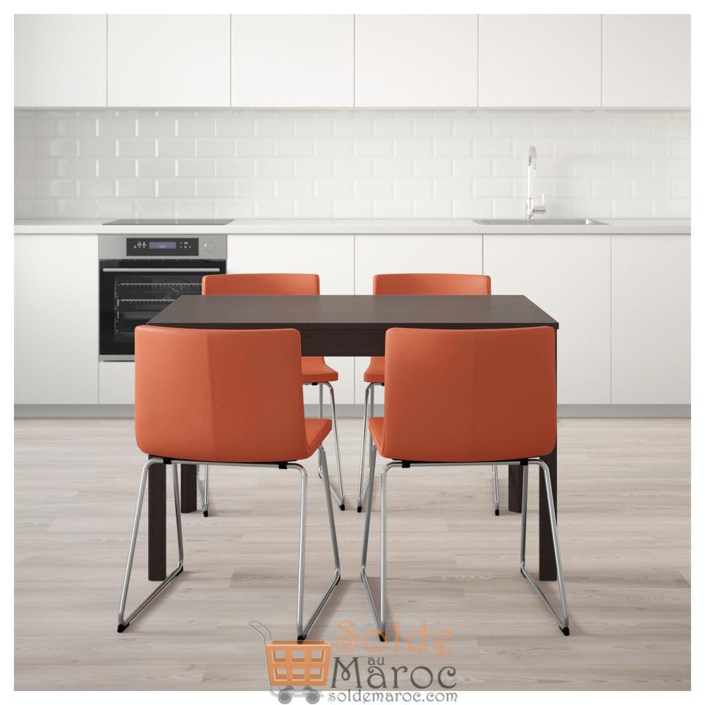 Promo Ikea Maroc Table Et 4 Chaises Ekedalen Bernhard