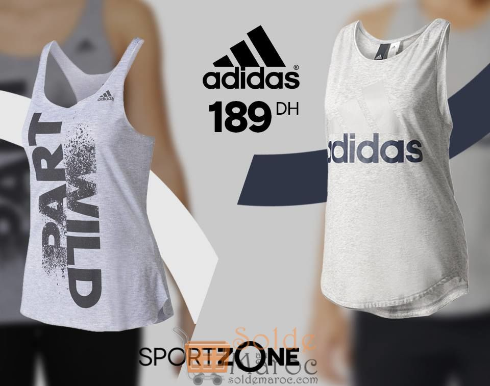 Promo Sport Zone Maroc Débardeur Femme Adidas 189Dhs