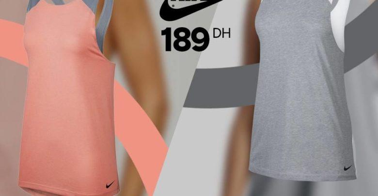 Photo of Promo Sport Zone Maroc Débardeur Femme Nike 189Dhs