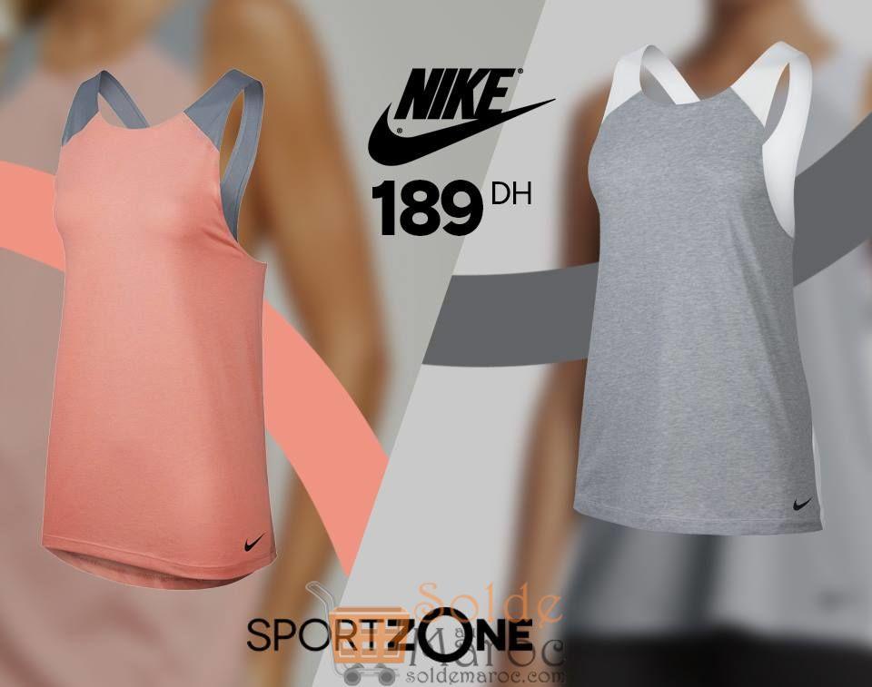 Promo Sport Zone Maroc Débardeur Femme Nike 189Dhs