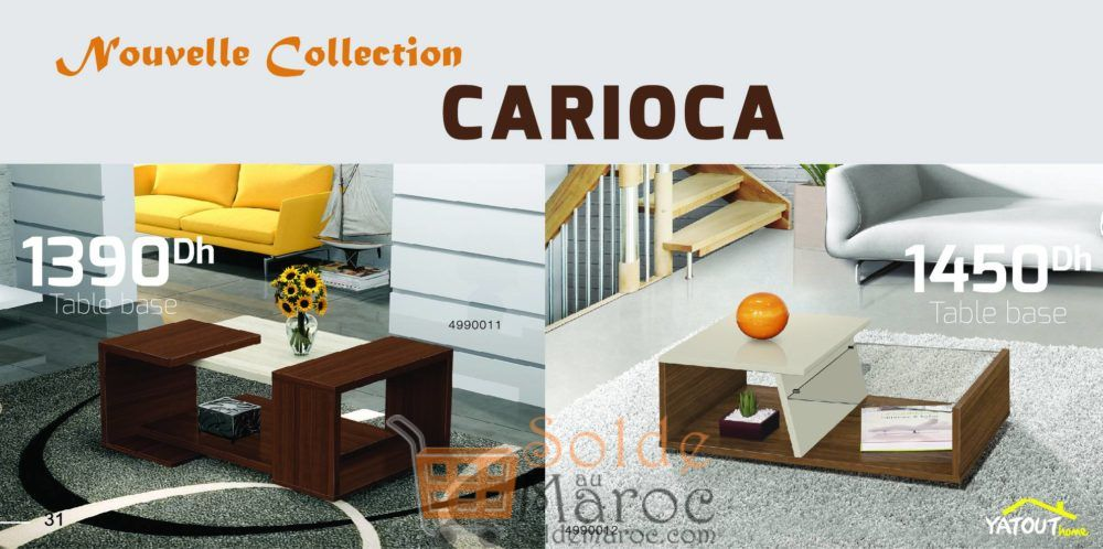Nouvelle Collection CARIOCA Table Basse chez Yatout Home