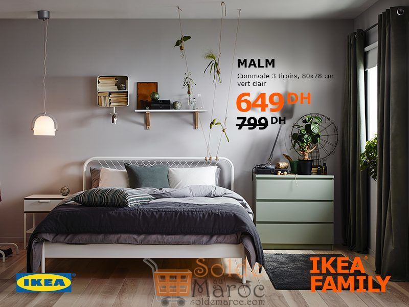 soldes ikea family maroc commode 3tiroirs malm 649dhs. Black Bedroom Furniture Sets. Home Design Ideas