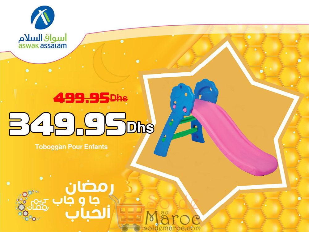 Promo Aswak Assalam Toboggan Pour Enfants 349.95Dh au lieu de 499.95Dhs
