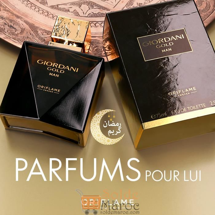 Promo Oriflame Maroc Eau de Toilette Giordani Gold Man 215Dhs au lieu de 359Dhs
