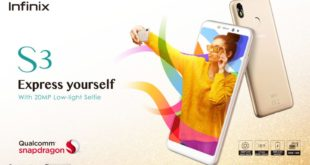 """Nouveau chez Jumia Infinix S3 5.7"""" 4G 32Go 3Go Ram Android8 Gold 1849Dhs"""