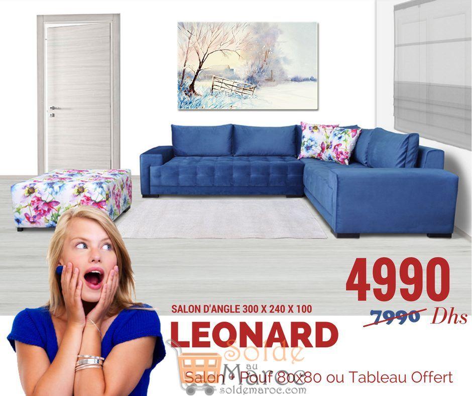 Superbe Promo Ambiance Design Salon LEONARD 4990Dhs au lieu de 7990Dhs
