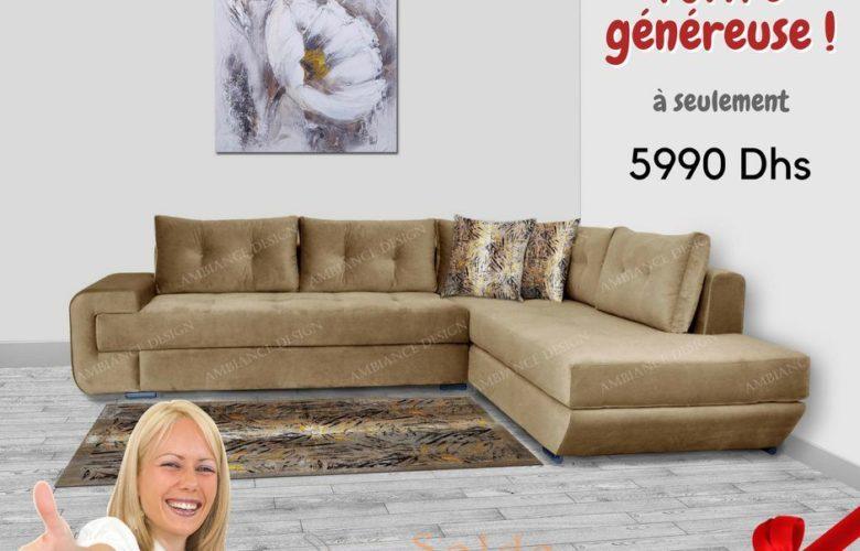 Offre Généreuse Ambiance Design Canapé à Partir de 5990Dhs