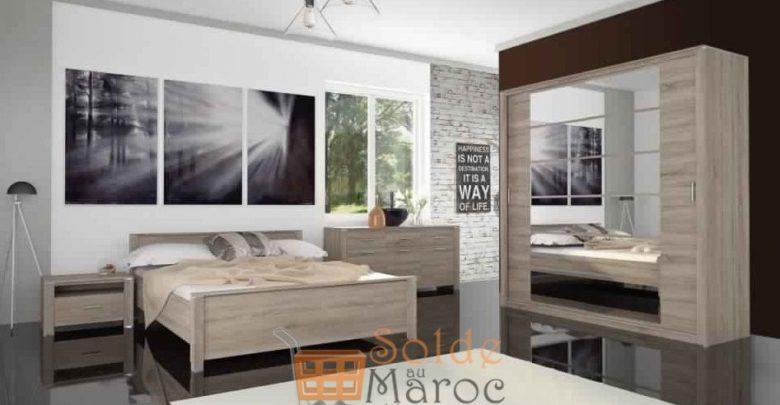 Promo Azura Home Armoire Philibert en mélaminé haute qualité 3590Dhs au lieu de 4681,80Dhs