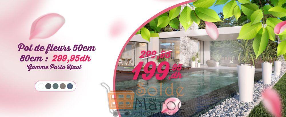 Promo Aswak Assalam Pot de fleurs PORTO 50cm 199.95Dhs au lieu de 299.95Dhs
