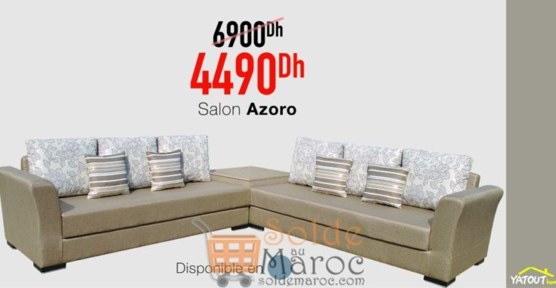 Photo of Promo Yatout Home Salon AZORO 4490Dhs