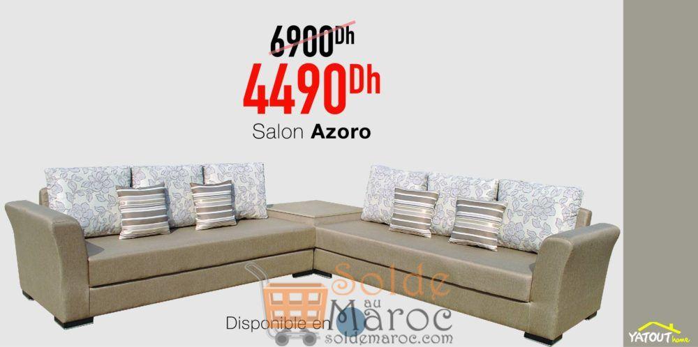 Promo Yatout Home Salon AZORO 4490Dhs au lieu de 6900Dhs
